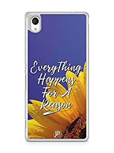 YuBingo Everything Happens For A Reason Designer Mobile Case Back Cover for Sony Xperia M4