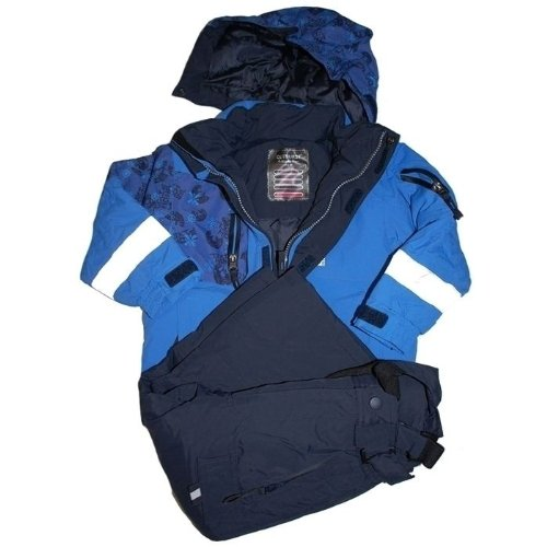 Outburst - ski-suit, anorak+skipants, boys / girls, blue-black