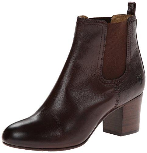 Frye Women'S Stella Short Chelsea Boot,Dark Brown,5.5 M Us