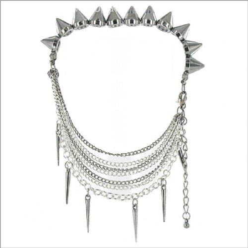 Metal Spike Shoe Accessory Anklet #041302