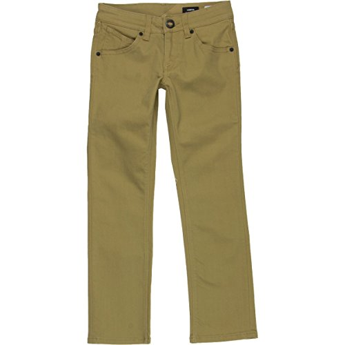Volcom Big Boys' Vorta 5 Pocket Twill Pant, Dark Khaki, 28