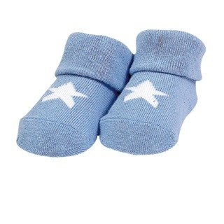 Blue Star Baby Booties
