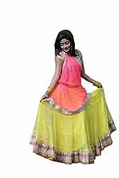 Shree Ganesh Women's Yellow Net Traditional Lahenga Choli [SL 6(SGF_J)]