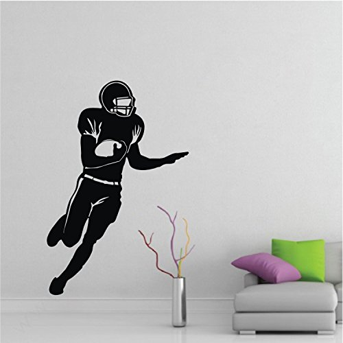 """Colorfulhall 39.37"""" X 26"""" Black Color Soccers Football Rugby Sports Wall Art Decal Sticker For Home Decoration front-661179"""