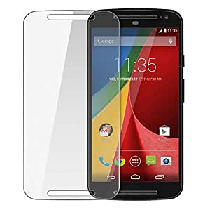 SNOOGG Pack of 4 Motorola Moto E (2nd gen) Full Body Tempered Glass Screen Protector [ Full Body Edge to Edge ] [ Anti Scratch ] [ 2.5D Round Edge] [HD View] – White