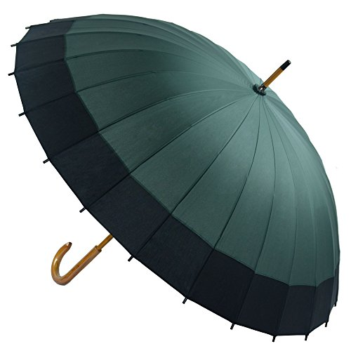 Kung Fu Smith Vintage Large Japanese Windproof Wooden Rain Umbrella 1