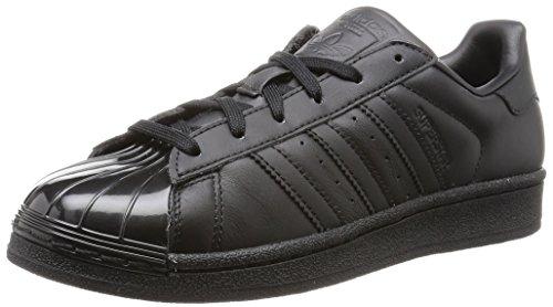 Adidas Superstar Glossy Toe, Scarpe da Ginnastica Donna, Nero (A0Qm), 38 EU