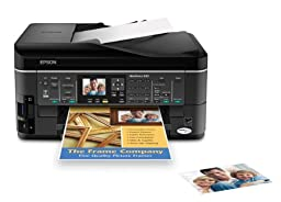 Epson WorkForce 630 Wireless All-in-One Color Inkjet Printer, Copier, Scanner, Fax (C11CB07201)