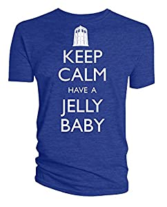 Dr Who Keep Calm Have A Jelly Baby Mens T-Shirt (Small)