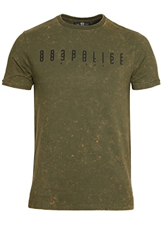 "883 POLICE Nanook T-Shirt | Military Green Small 36"" Chest"