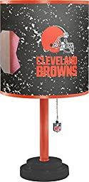 NFL Cleveland Browns Table Lamp with Die Cut Lamp Shade