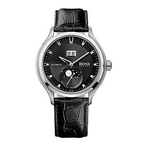 Hugo Boss - 1512656 - Montre Homme - Automatique Analogique - Cadran - Bracelet Cuir Noir
