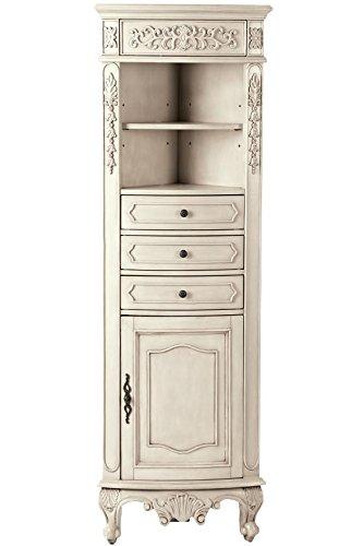 Winslow Corner Linen Cabinet 67 5 Hx22 Wx14 D Antique White Ehouseholds Com