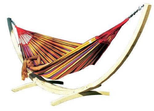 Amazonas Set Troja Gestellmit Paradiso tropical Hängematte, Belastbarkeit 200kg, Liegefläsche 250 x 175cm jetzt kaufen