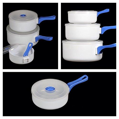 Maison Futée - Casseroles pour micro-ondes avec poignée amovible - Lot de 3