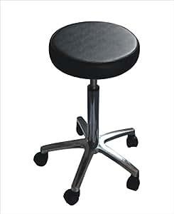 adjustable height hydraulic stool 3 foam swivel w 5 wheel casters beauty salon. Black Bedroom Furniture Sets. Home Design Ideas