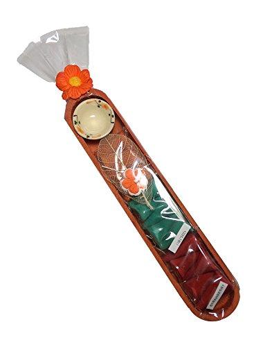 15 Mini Conos De Incienso Juego Interior Un Lindo De madera Caja De Regalo Y Diseño Floral Pantalla De envolver (17cm x 3.5cm)