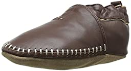 Robeez Classic Moccasin Crib Shoe (Infant), Brown, 6-12 Months M US Infant