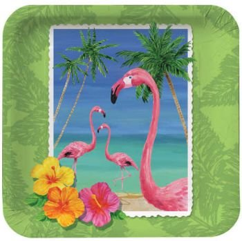 Tropical Vacation Dessert Plates