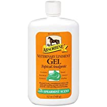 Absorbine Veterinary Liniment Gel Topical Analgesic Sore Muscle and Joint Pain Relief