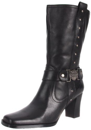 Harley-Davidson Women's Lindsey Motorcycle Boot,Black,7.5
