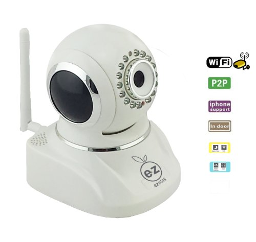 Ezetek Wireless Ip Network Camera Security System For Surveillance , Remote Controlling And Reviewing, 15 Meter Night Vision,Two-Way Audio, Email Alerts,Multi-Platform Support, Pan/Tilt: 320°/120° Ez-Ic002 front-1065692