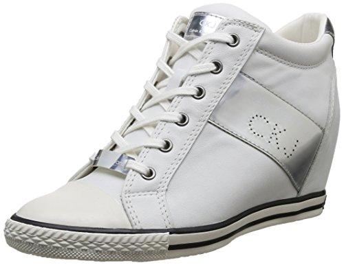 Calvin Klein Jeans - Violet, Sneakers da Donna, bianco(Weiß (Wsi)), 41