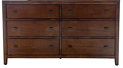 Home Source 50902015 Wilmington Collection Asian Hardwood Dresser, 35.2 by 16.5 by 62-Inch, Light Cherry