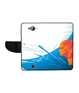 KolorEdge Printed Flip Cover For Acer Liquid Z530 Multicolor - (1478-50KeMLogo11970AcerZ530)