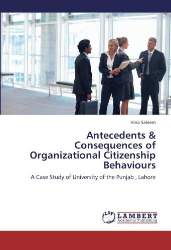 Antecedents & Consequences of Organizational Citizenship Behaviours