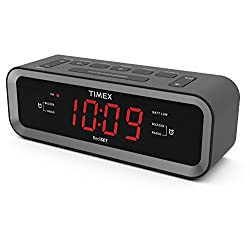 Timex  T236B AM/ FM Dual Alarm Clock Radio with USB Charge Port - Black