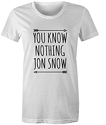 You Know Nothing Jon Snow Womens T Shirt Game Of Thrones Tee Top
