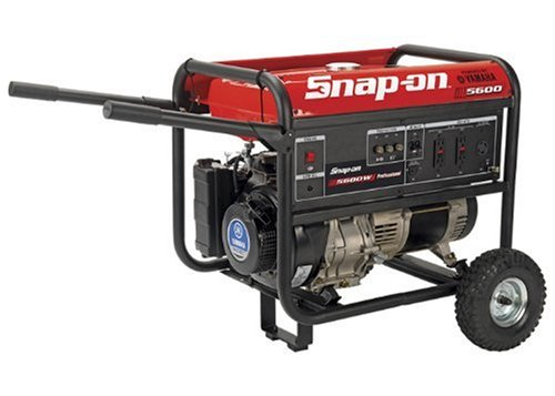 Snap-On 870254 5,600 Watt 10 HP Yamaha Gas Powered Portable Generator With Wheel Kit