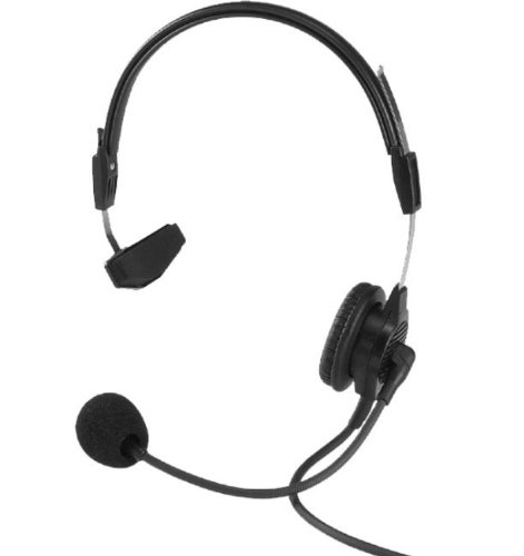 BOSCH SECURITY SYSTEMS PH88 Single-Sided Headset with Flexible Dynamic Boom Mic - Black (Bosch Headset compare prices)