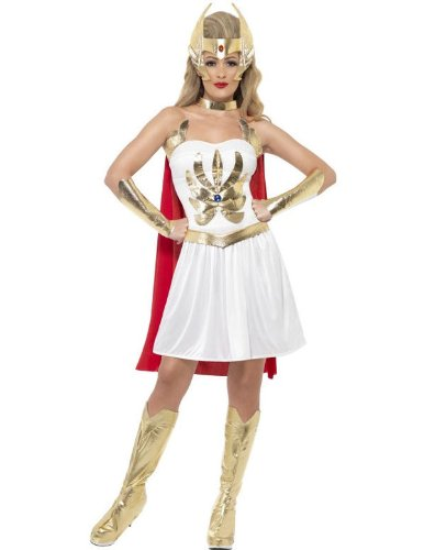 Smiffys Women's White/Gold/Red She-ra Costume - S, M or L