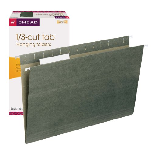 Smead hanging file folder with tab 1 3 cut adjustable for Smead label templates