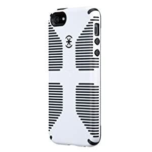 Speck Products CandyShell Grip Case for iPhone 5 & 5S - Retail Packaging - White/Black