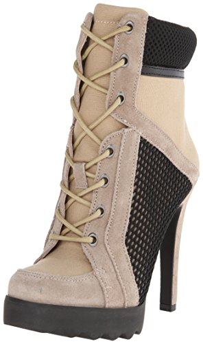 Nine West Women'S Happy Sport Fabric Boot, Natural Multi, 8.5 M Us