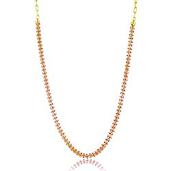 Donna Traditional Ethnic Light Pink Crystal Beauty Gold Plated Chain with Crystal Stones For Women CN27006GLPin