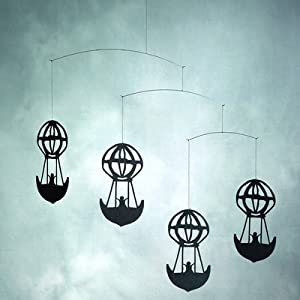 Flensted Mobiles f090a Hans Christian Andersen Balloons Mobile in Black