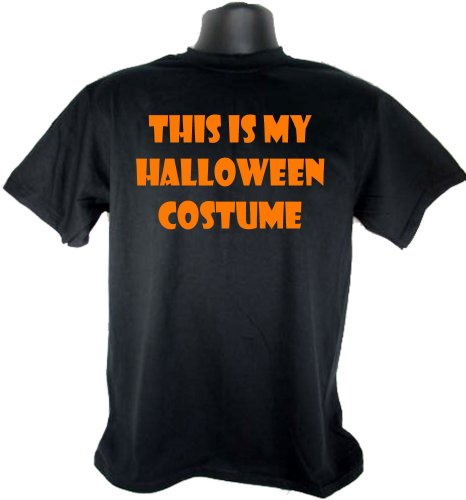 This Is My Halloween Costume Funny Adult Black T-Shirt Tee