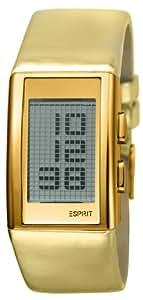 Esprit - ES101382005 - Montre Femme - Quartz Digital - Eclairage - Bracelet Cuir Doré
