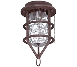 Craftmade OLK200CFL-FB 1 Light Outdoor Cage Fan Light Kit with Clear Water Glass, Flat Black