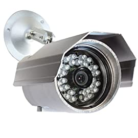 Night Vision IR Waterproof Bullet Outdoor Security Camera - 520TVL 1/3