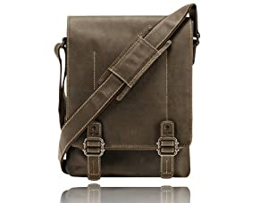 Visconti 16094 Distressed Leather Flapover Messenger Bag / Cross body bag 16094