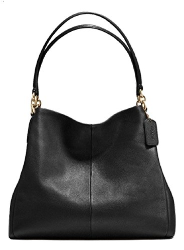 coach-pebbled-phoebe-leather-shoulder-bag-style-f35723-imblk-in-black