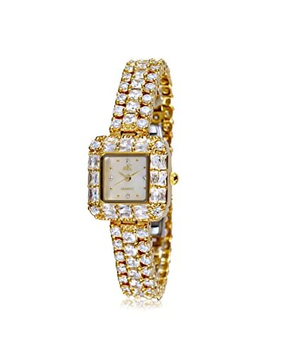 Adee Kaye Women's AK9-71-LG/C Glamour Collection Crystal & Brass Watch