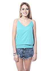 TURQUOISE NOODLE STRAP TOP For Women
