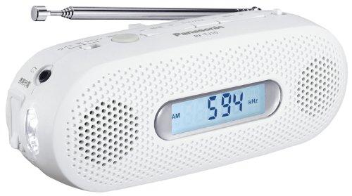 パナソニック FM/AM 2バンドレシーバー 手回し充電ラジオ ホワイト RF-TJ10-W