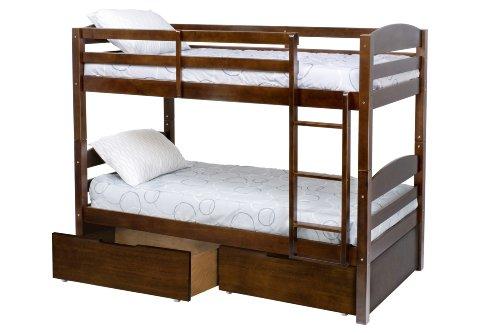 Million Dollar Baby Kids' Bailey Bunk Bed Drawer, Espresso front-299321